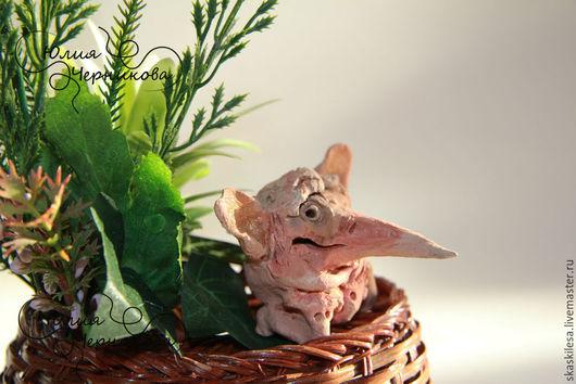 Статуэтки ручной работы. Ярмарка Мастеров - ручная работа. Купить Маленький рапун (почти крыска). Handmade. Крыса, статуэтки из керамики