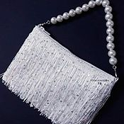 Свадебный салон handmade. Livemaster - original item Mini bag with fringe.. Handmade.