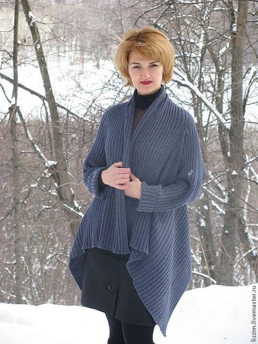 """Кофты и свитера ручной работы. Ярмарка Мастеров - ручная работа. Купить Кардиган """"Сабрина"""". Handmade. Однотонный, вязаное пальто"""