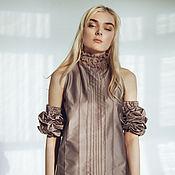 Одежда ручной работы. Ярмарка Мастеров - ручная работа Коктейльное платье из атласа. Handmade.