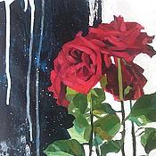 Картины и панно ручной работы. Ярмарка Мастеров - ручная работа Розы и музыка сфер. Handmade.