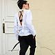 R00011 Белая рубашка рубашка из льна летняя рубашка модная рубашка кофта с открытой спиной рубашка белая дизайнерская рубашка свободный стиль открытая спина лето 2015 блузка летняя туника летняя