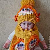 """Работы для детей, ручной работы. Ярмарка Мастеров - ручная работа Комплект шапка и шарф детский """"Маруся и ромашки"""". Handmade."""