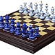 Персональные подарки ручной работы. Ярмарка Мастеров - ручная работа. Купить Шахматы-ларец Гжель Презент большие (венге, клетка 4,5см) 33569. Handmade.