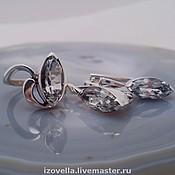 Jewelry Sets handmade. Livemaster - original item Set Marquise white Topaz, silver. Handmade.