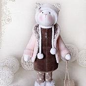 """Куклы и игрушки ручной работы. Ярмарка Мастеров - ручная работа Кошка """"На закат ты розовый похожа..."""". Handmade."""