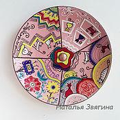 Посуда handmade. Livemaster - original item Plate interior Happiness and cats. Hand-painted.Plate. Handmade.