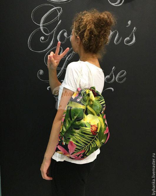 Рюкзаки ручной работы. Ярмарка Мастеров - ручная работа. Купить Сумка-рюкзак. Handmade. Рюкзак, рюкзак для девочки, яркий рюкзак