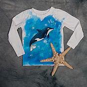 Одежда ручной работы. Ярмарка Мастеров - ручная работа Лонгслив Дельфин. Handmade.