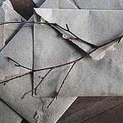 Канцелярские товары ручной работы. Ярмарка Мастеров - ручная работа Льняные конверты и бумага ручной работы. Handmade.