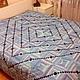 Текстиль, ковры ручной работы. Ярмарка Мастеров - ручная работа. Купить Бирюза. Handmade. Голубой, камушки, лоскутное покрывало