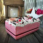handmade. Livemaster - original item The box is decorated with sweet Raspberry. Handmade.