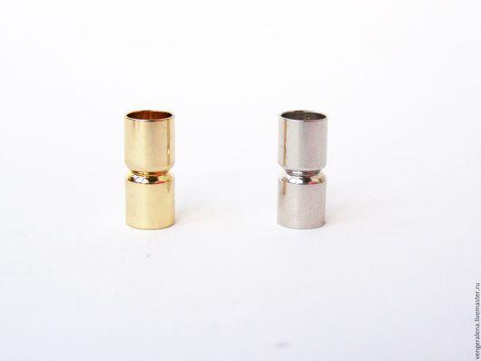 Для украшений ручной работы. Ярмарка Мастеров - ручная работа. Купить Колпачки-застежка магнитная заглушка 10 мм серебро золото. Handmade.