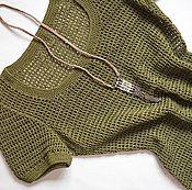 Одежда ручной работы. Ярмарка Мастеров - ручная работа Вязаное платье в стиле милитари. Handmade.