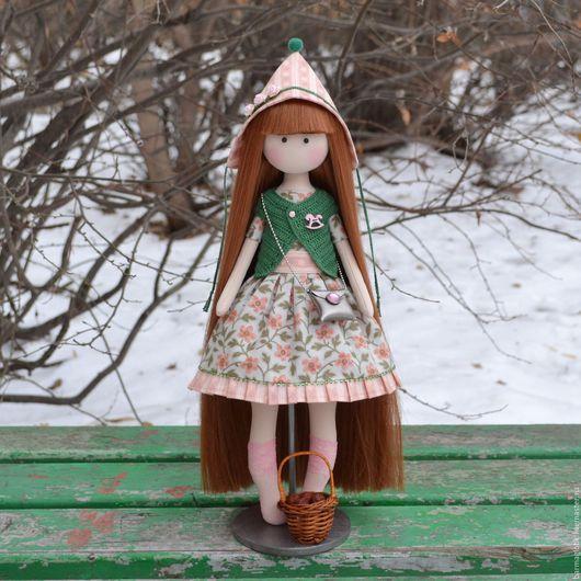 Человечки ручной работы. Ярмарка Мастеров - ручная работа. Купить Гномик. Handmade. Розовый, кукла на заказ, кукла на подставке, кукла