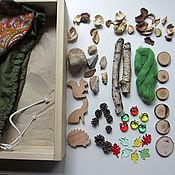 """Куклы и игрушки ручной работы. Ярмарка Мастеров - ручная работа Песочный набор """"Лес"""". Подарок ребенку от 1 года. Handmade."""