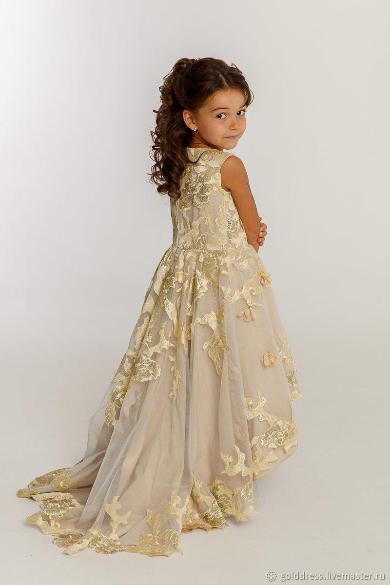 c06f3f523337f68 ручной работы. Ярмарка Мастеров - ручная работа. Купить Детское вечернее  платье.