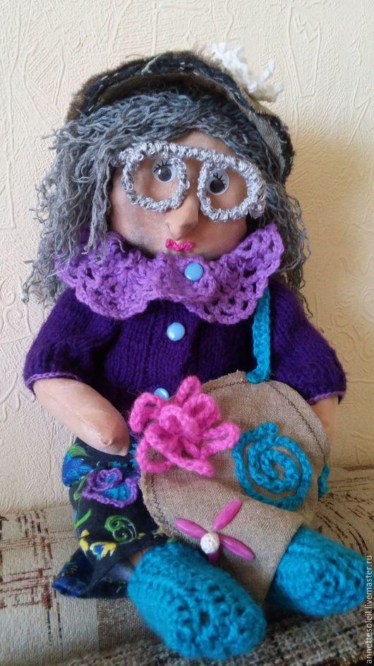 Народные куклы ручной работы. Ярмарка Мастеров - ручная работа. Купить Домовушка Тамара-Томочка. Handmade. Тёмно-фиолетовый, подарок