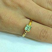 "Украшения handmade. Livemaster - original item Ring ""Paraiba Tourmaline"" gold plated silver with tourmaline blue. Handmade."