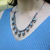 Украшения handmade. Livemaster - original item Garnet necklace made of 925 sterling silver with hand-minted VA0007. Handmade.