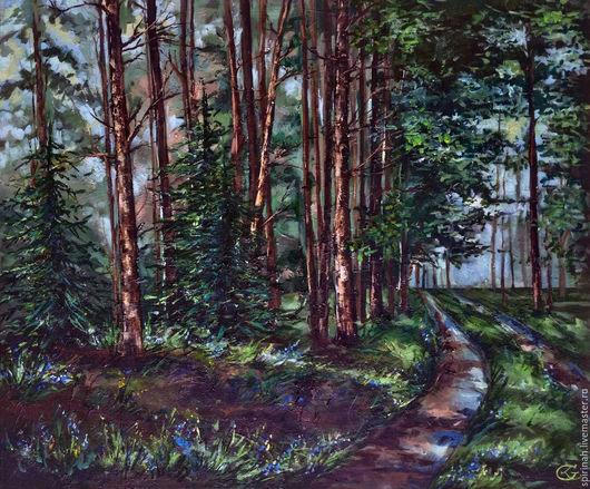 Пейзаж ручной работы. Ярмарка Мастеров - ручная работа. Купить Таинственный лес. Handmade. Лес, после дождя