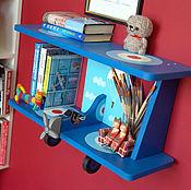 Для дома и интерьера ручной работы. Ярмарка Мастеров - ручная работа Полочка Самолёт для детской комнаты 60см. Handmade.
