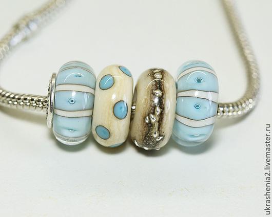 Бусины лэмпворк для браслетов Пандора, Тролль сделаны из муранского стекла. Цена 350 и 400р за шт без вставки