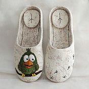 Обувь ручной работы handmade. Livemaster - original item Felted Slippers flip flops