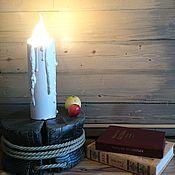 """Для дома и интерьера ручной работы. Ярмарка Мастеров - ручная работа Светильник """"Свеча"""". Handmade."""