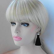 Украшения handmade. Livemaster - original item Earrings tassel Noir mini. Handmade.