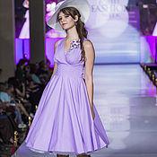 """Одежда handmade. Livemaster - original item Платье в стиле 50-х """"Сирень в цвету"""". Handmade."""