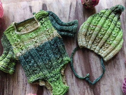 Одежда ручной работы. Ярмарка Мастеров - ручная работа. Купить Комплект для новорожденного ,боди+шапочка.. Handmade. Комбинированный, бодик, шапочка