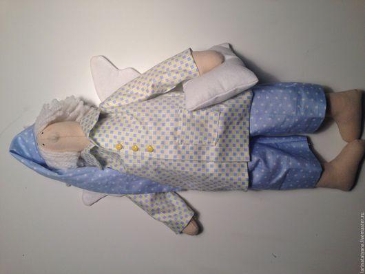 Куклы Тильды ручной работы. Ярмарка Мастеров - ручная работа. Купить Тильда Сонный ангел. Handmade. Голубой, ангел сна