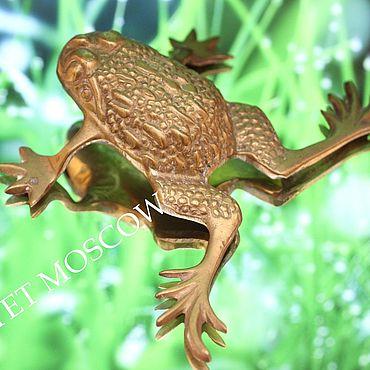 Винтаж ручной работы. Ярмарка Мастеров - ручная работа Лягушка жаба бронза латунь Англия 5. Handmade.