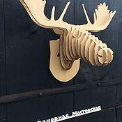 Скульптуры ручной работы. Ярмарка Мастеров - ручная работа Голова животного из фанеры (Лось). Handmade.