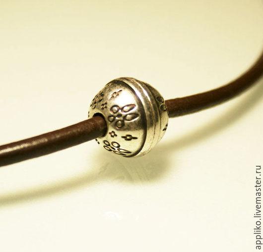 Для украшений ручной работы. Ярмарка Мастеров - ручная работа. Купить Замок для шнура d.4мм магнит. Handmade. Серебряный