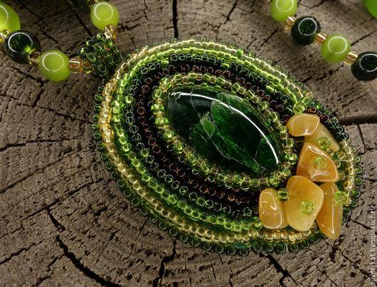 """Кулоны, подвески ручной работы. Ярмарка Мастеров - ручная работа. Купить Комплект """"Тигриные тропы"""". Handmade. Ярко-зелёный, зверь"""