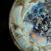 """Посуда ручной работы. Ярмарка Мастеров - ручная работа Фарфоровая тарелка  """"Пепел"""". Handmade."""