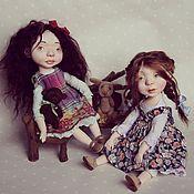 Куклы и игрушки ручной работы. Ярмарка Мастеров - ручная работа Тоня и Василиса куклы будуарные. Handmade.