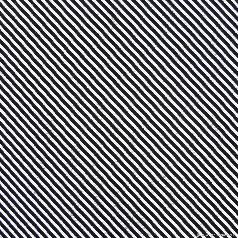 Американский хлопок полоска черная ТКАНЬ, Ткани, Санкт-Петербург,  Фото №1