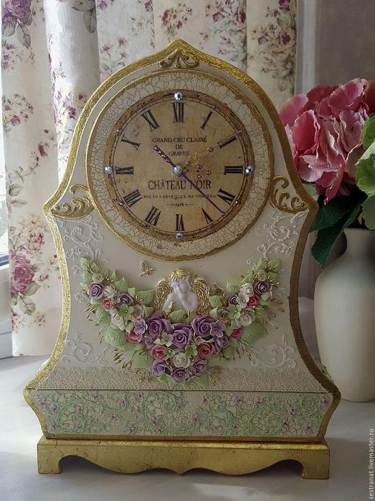 """Часы для дома ручной работы. Ярмарка Мастеров - ручная работа. Купить Часы каминные """"Версаль"""". Handmade. Комбинированный, часы настенные"""