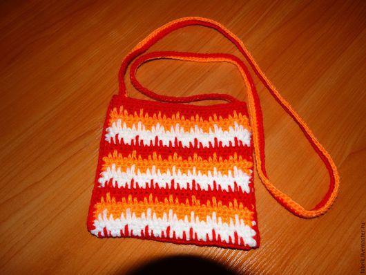 Женские сумки ручной работы. Ярмарка Мастеров - ручная работа. Купить сумочка вязаная. Handmade. Разноцветный, Вязание крючком