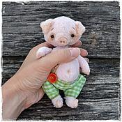Куклы и игрушки ручной работы. Ярмарка Мастеров - ручная работа Хрюшка тедди. Handmade.