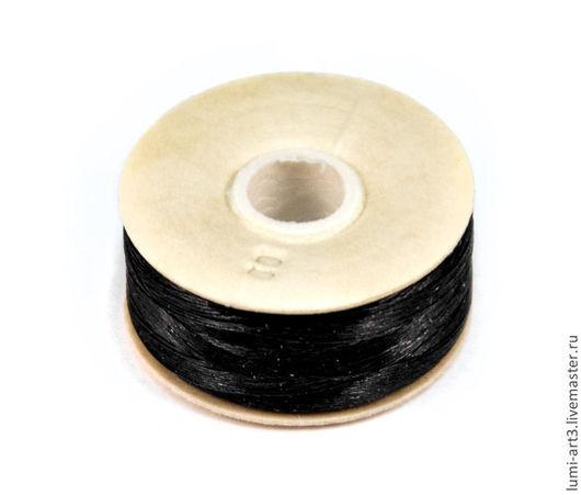 Для украшений ручной работы. Ярмарка Мастеров - ручная работа. Купить Нить Nymo размер 00 черный цвет Black катушка 59 метров. Handmade.