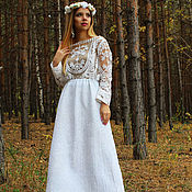 Одежда handmade. Livemaster - original item Skirt felted White nights (on silk). Handmade.