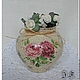 """Кухня ручной работы. Горшочки """"Чайные розы"""". только розовый в наличии. Юлия Фисун (julia-fisun). Интернет-магазин Ярмарка Мастеров."""