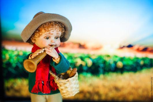 Коллекционные куклы ручной работы. Ярмарка Мастеров - ручная работа. Купить Пастушок Найджел. Handmade. Комбинированный, кукла с дудочкой