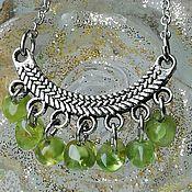 handmade. Livemaster - original item Necklace with natural peridot