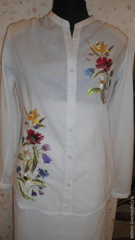платье из ш лка хадонг