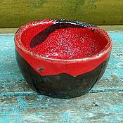Посуда ручной работы. Ярмарка Мастеров - ручная работа Пиала керамическая раку. Handmade.